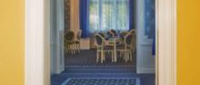 Modrý salónek